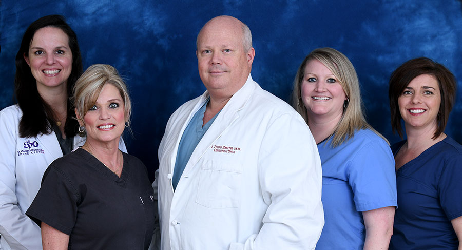 Smith Staff - Sara V. Thompson, CRNP, Stacy Carpenter, Dr. Todd Smith, Malea Robinson and Shardona Danna